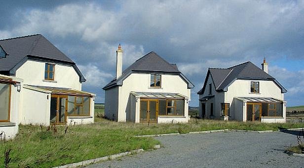 Some of the detached homes on the development