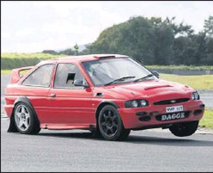Russell Dagge tries his hand at the driving this weekend. The Tinahely native is more accustomed to co-driving but is making his racing debut in his 2.5 Escort in Baltinglass.