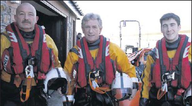 The lifeboat crew were Terry Sillery (helm) Paul Sillery and Tommy Murphy.