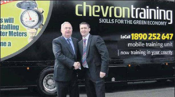 Pat Rabbitte pictured with director of Chevron, Karl Fitzpatrick.