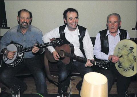 Pictured at the Fingal Folk Club were Ted O'Reilly, Ronnie Delaney and V. Delaney.