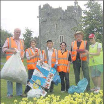 Swords Tidy Towns volunteers.
