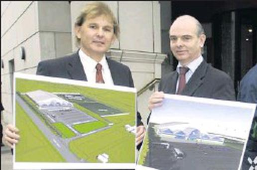 Liam Buckley, left, Director of Football, Fingal Football Development Plan and John O'Brien, Senior Executive Officer, Fingal County Council Community Culture and Sports Division at the original launch of the plan back in 2007.