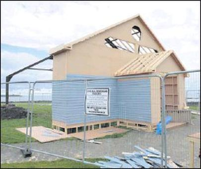 A church being built on the green in Rush for John Michael McDonagh's latest movie Calvary, which is expected to begin shooting later this month.