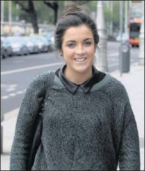 17-year-old Jessica Cush from Lusk leaving court on Friday after she was awarded €50,000 damages.