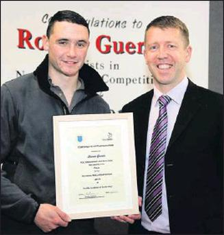 Ronan Guerin with Jeff King, DAA Maintenance Facilities Officer.