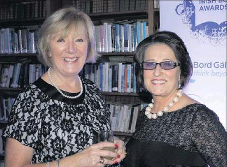 Dorothy Hickey and Mary Farrell of Village Books at the Bord Gáis Energy Book Awards last year.