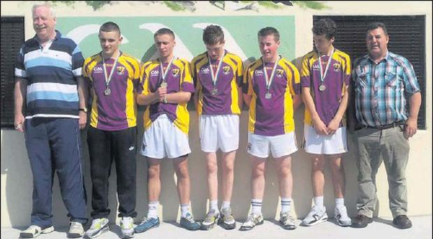 Tony Reid, Stephen Greene, Jack Roche, Aaron Wright-Power, Bryan Kehoe, Liam Shannon and Richard Martin after their All-Ireland success.