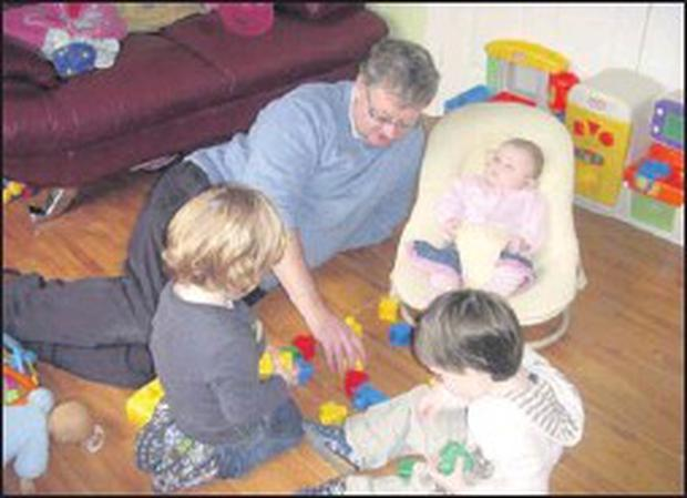 Tommy Banks childminder with children in his care