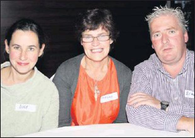 Lucy Medlycott, Mairéad Dunne and Simon Audsley at The Gathering meeting.