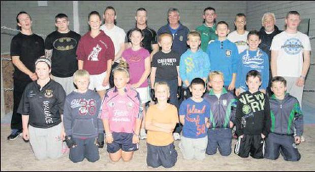 Members of Clonard Boxing Club are busy training.