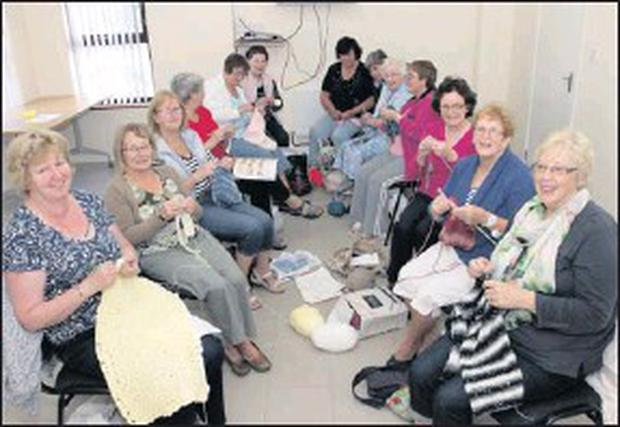 The Coolcotts Community Centre Knitting Group in action on Monday morning.