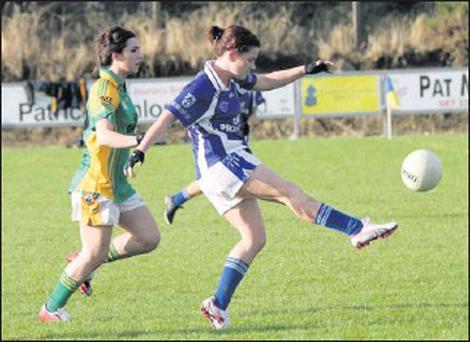 Deirdre McMahon, who lined out at full-forward in Ringsend on Saturday last and scored a point.