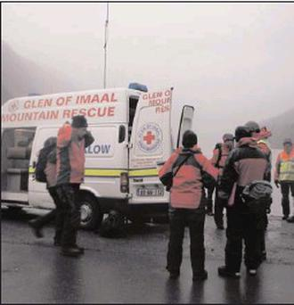 The Glen of Imaal Mountain Rescue team springs into action at Glendalough. Demands have increased as more people take to the mountains.