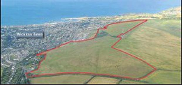 Red marks the spot at Ballyguile Hill near Wicklow Town.