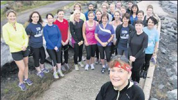 Mary Nolan Hickey and the Coral Runners, Arklow, are ready for running action.