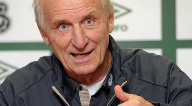Ireland manager Giovanni Trapattoni is facing a selection headache in midfield for Friday's game against Armenia. Photo: David Maher / Sportsfile