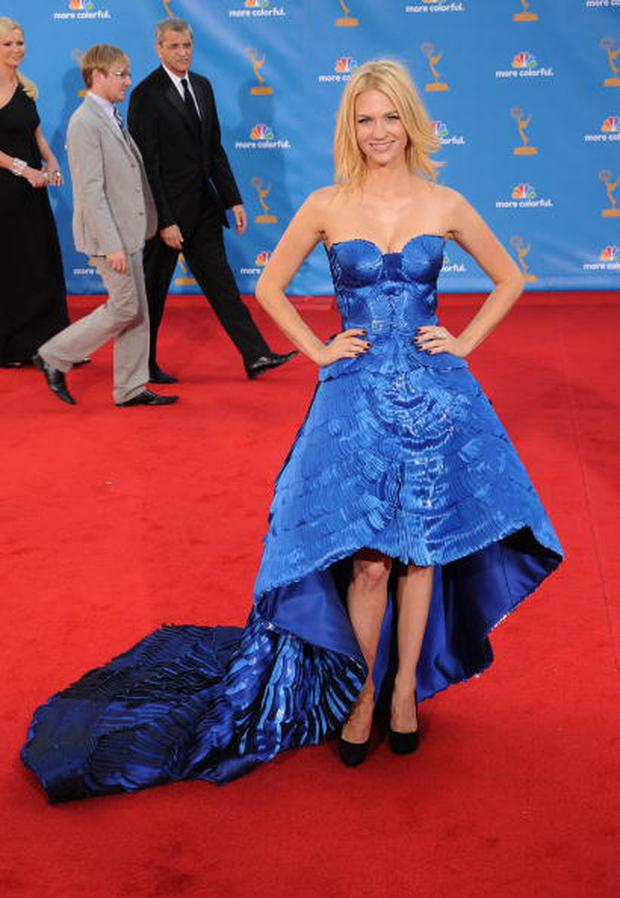 Actress January Jones arrives at the 62nd Annual Primetime EMMY Awards at Nokia Theatre L.A. Live on August 29, 2010 in Los Angeles, California.