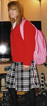 Michaela Davis pictured in her secondary school uniform