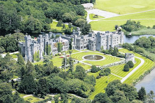 Ashford Castle sits in a spectacular setting