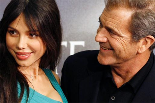 Legendary actor Mel Gibson and his ex-girlfriend, Russian beauty Oksana Grigorieva