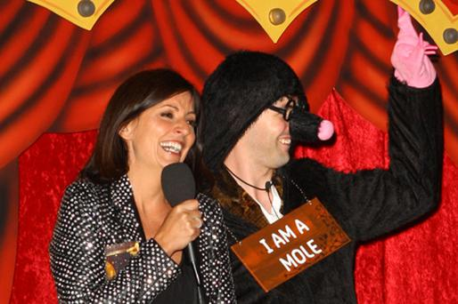 Davina McCall and Mario Mugan (R) before Mario entered the Big Brother House. Photo: Getty Images