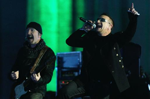 U2 named as highest-earning band in the world. Photo: Getty Images