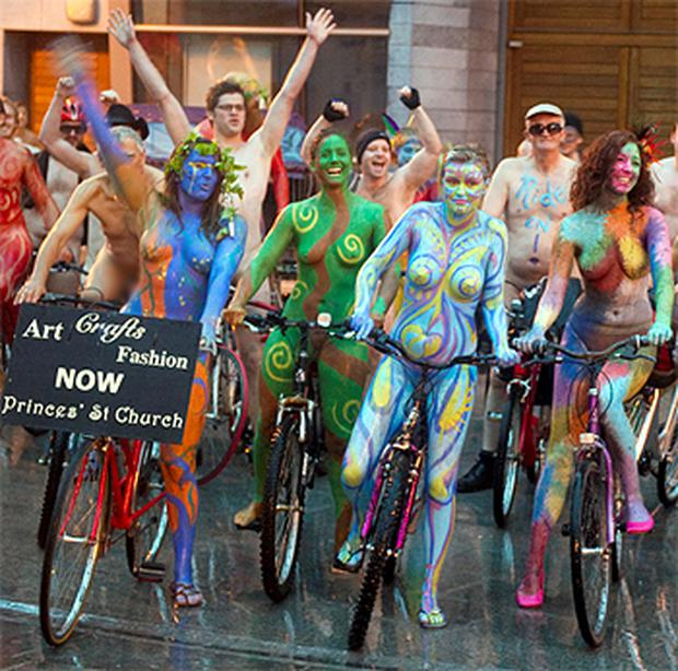 The naked bike ride early yesterday morning in Cork city was a colourful  affair with many b62381fdd