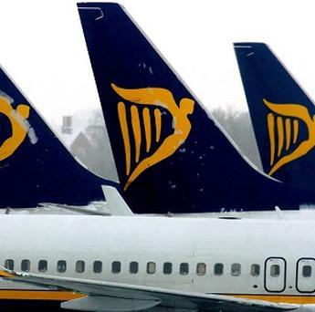 Ryanair has reported a fall in profits due to the Iceland volcano