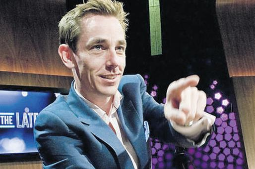 Ryan Tubridy on the 'Late, Late Show'