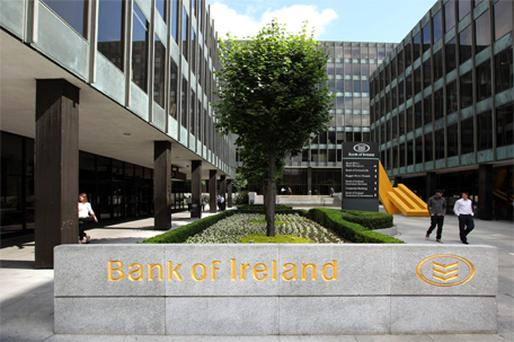 Bank of Ireland slid 4.4pc to 61c. Photo: Bloomberg News