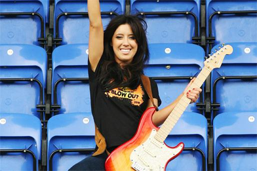 Lottie Ryan at Donnybrook Stadium, Dublin, yesterday to launch the Leaving Cert results festival 'Summer Blow Out 2010'