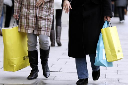 Sales were up 1pc on the month and 3.1pc on the year, the Office for National Statistics said. Photo: Bloomberg News