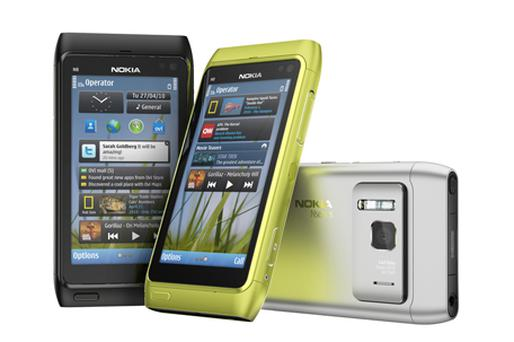 Nokia, rose 2.6pc after claims its new N8 handset will 'kick-start' its comeback. Photo: Bloomberg News
