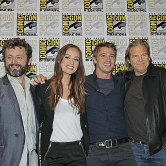 Michael Sheen, Olivia Wilde, Garrett Hedlund and Jeff Bridges attended Comic-Con