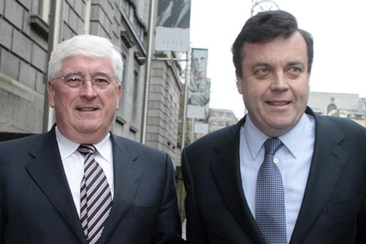 Finance Minister Brian Lenihan and Enterprise Minister Batt O'Keeffe are to meet with AIB bosses today to discuss the bank's SME lending policies. Photo: Tom Burke