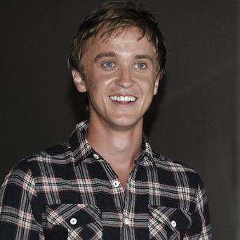 Tom Felton arrives at a sneak peek of the latest Harry Potter instalment at Comic Con in San Diego (AP)