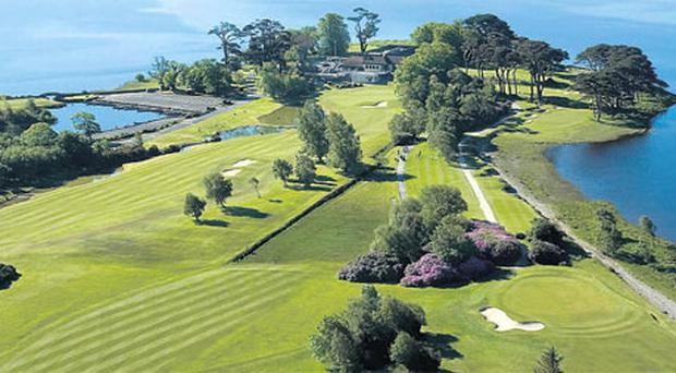 A spectacular aerial view of the 18th hole at Killarney which hosts the Irish Open this week.