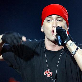 Rapper Eminem moved up to number two with Love The Way You Lie
