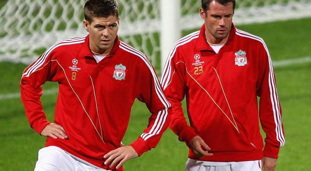 Steven Gerrard and Jamie Carragher were among the high-profile absentees for tomorrow's Europa League third qualifying round first leg clash against FK Rabotnicki in Skopje. Photo: Getty Images
