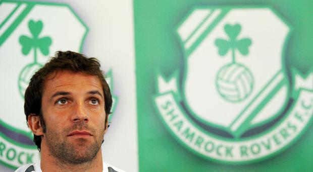 Juventus captain Alessandro Del Piero addresses the media ahead of the Europa League clash with Shamrock Rovers tonight.