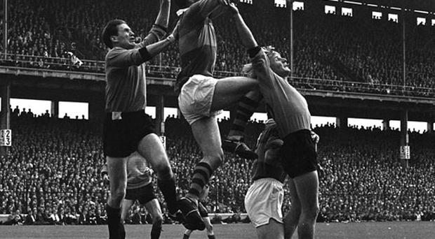Kerry's Mick O'Connell (centre) in action against Sean O'Neill (left) and John Purdy of Down during the 1968 All-Ireland SFC final. Photo: Connolly Collection / Sportsfile