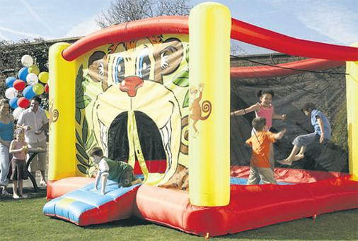 Bouncy castles are a popular item that families rent out for special occasions like parties and communions