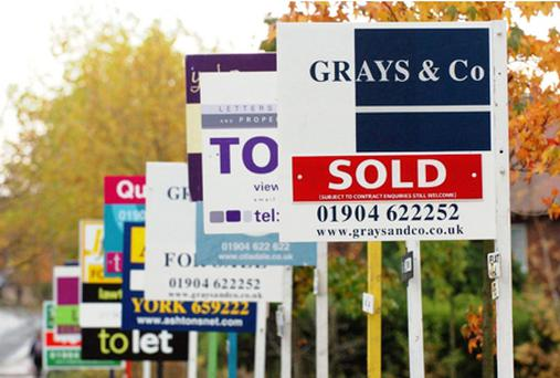 The fall in house prices is begining to slow according to the latest survey. Photo: PA