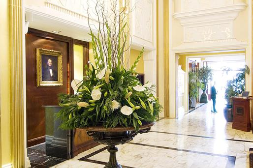 The lobby of the Imperial Hotel in Cork, one of the Flynn Group of hotels