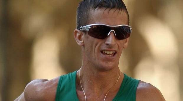 Robert Heffernan set a new national record as he finished fourth in the European Championships in Barcelona. Photo: Getty Images
