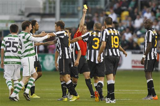 SHAMROCK ROVERS: The Dublin club made €300,000 from the TV rights to last week's game against Italian giants Juventus