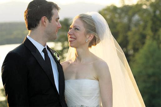 Chelsea Clinton and Marc Mezvinsky, who got married in lavish style at the weekend