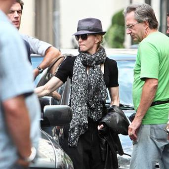 Madonna, during the filming of the movie
