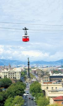 The cable car to Montjuic affords spectacular views.
